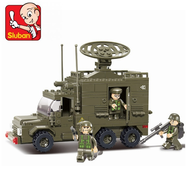 Sluban Radar Vehicle 231 Pcs Mini Bricks Set Sale Military Land ...