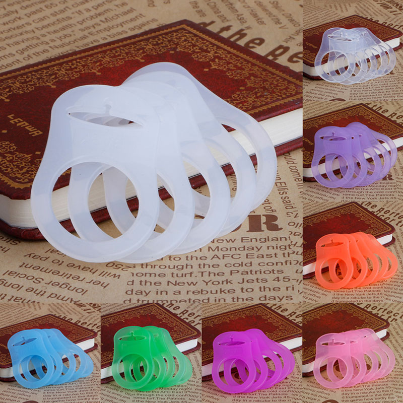 5Pcs Multi Colors Silicone Baby Dummy Pacifier Holder Clip Adapter For MAM Rings Chupeta Pacifier Clips