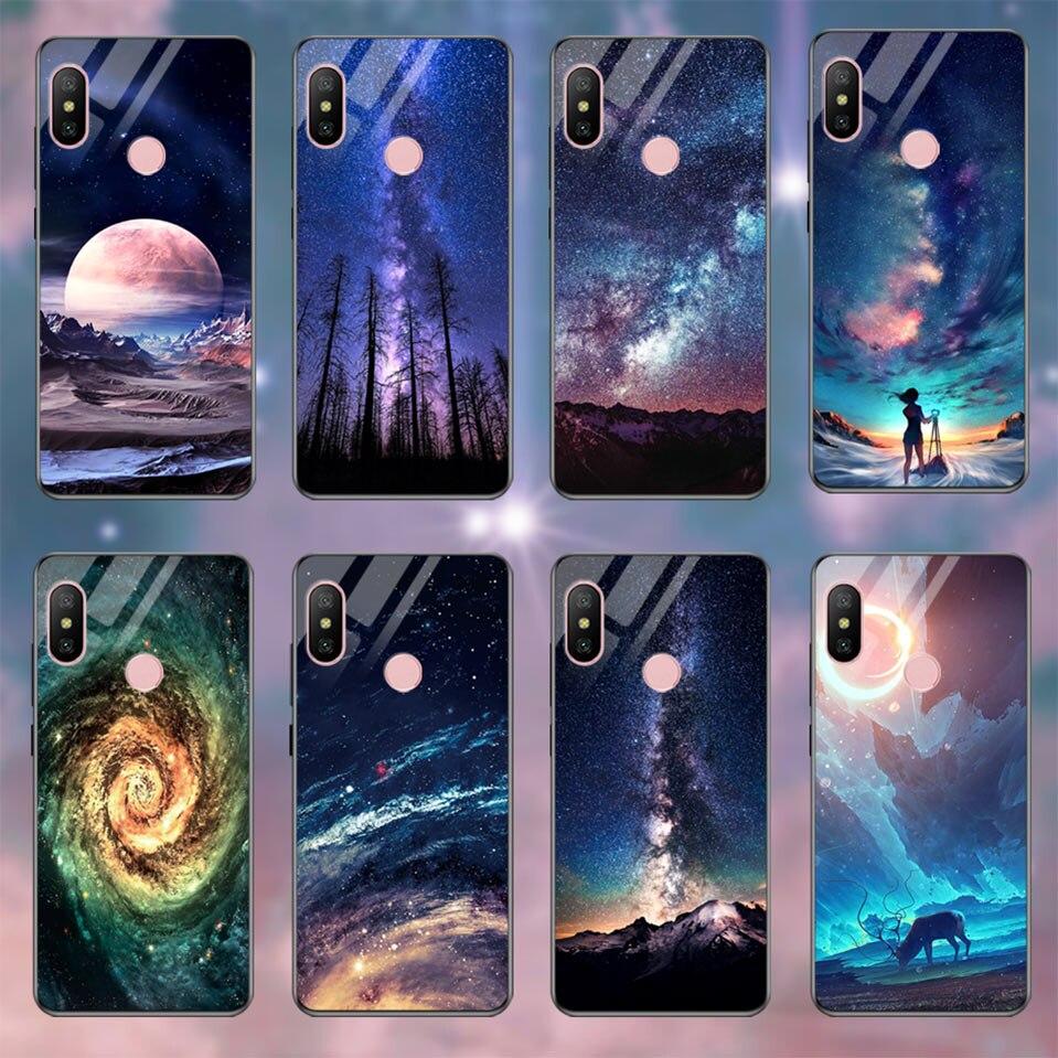 Tempered Glass Case For Xiaomi Redmi 6A Note 5 6 Pro Global 5 Plus 4X Cover Pattern Xiomi Phone Case for Xiaomi Mi A2 Lite A1 5X (24)