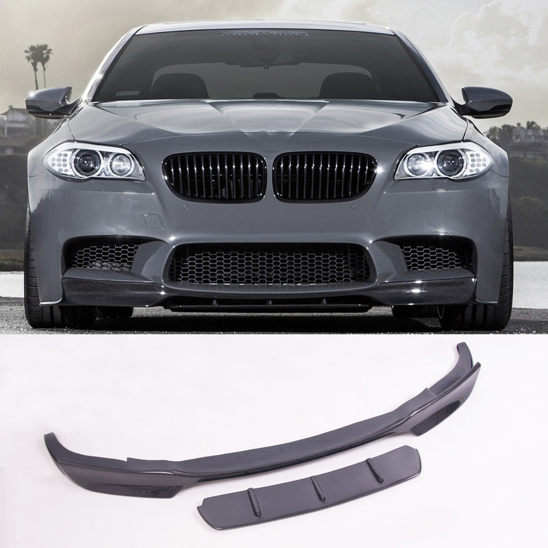 V Style Carbon fiber Front Lip spoiler Fit For BMW 5 Series F10 M5