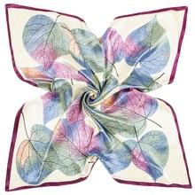 Square Satin Silk Scarf Women Hijab Soft Shawls And Wraps Female Foulard Ladies Scarves Stoles Bufandas 90*90CM 9106