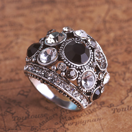 Hot Selling Luxurious Vintage Rings Masculino Bijuterias Brand Antique Silver Anel Steampunk Ring Aliancas De Casamento Man Ring
