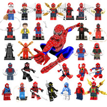 Untuk Legoelys Super Spiderman Pahlawan Thor Iron Man Rental Deadpool Batman Avengers 4 Captain Marvel Blok Bangunan Mainan Figure(China)