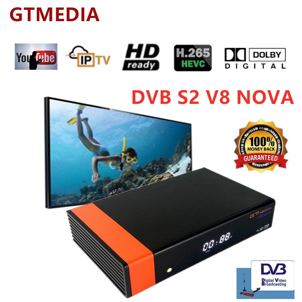 Boîtier TV récepteur Satellite FREESAT DVB S2 V8 NOVA support H.265, AC3, YouTube, Bisskey, Cccam, Newcam, WifiSet