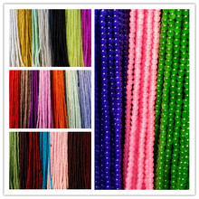 4MM ( 800pcs = 4strands/Lot ) Glass Bead Strands Jewelry Beads Findings