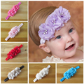 Buenos Ninos Infant flower headband 14 colors Baby chiffon hairband Toddler Baby girls Felt Flower headbands