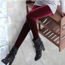 2017 New velvet leggings women fluwelen legging High Elastic Crushed Velvet Pants Push up Slim Leggings