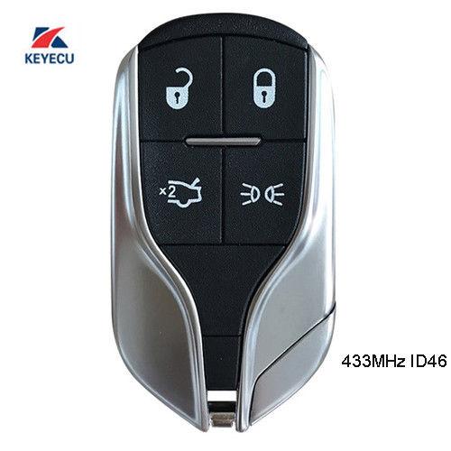 KEYECU Remote Key Fob Light Button 433MHz for Maserati Ghibli Quattroporte M3N7393490