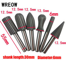 Rotary-Files Wood Grinding Burr-Tools-Set Engraving-Tool Dremel Metal New 6mm HSS
