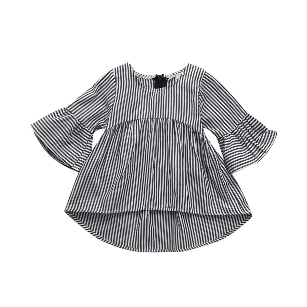 Baby Girls Infant Toddler Kids Girls Dresses 2018 Clothes Stripe Princess Tops Outfits Dress