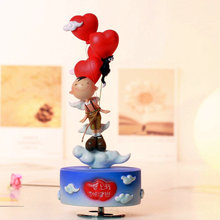 Rotating decorations music box birthday gift girlfriend gifts for wedding and Christmas friend free shipping