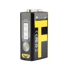 1Pc 9V 550mAh Lithium Batterie USB Lade Für Multimeter Mikrofon