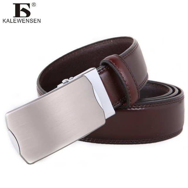 ca09e77b07c1f Man belt genuine leather luxury automatic belts 125cm black formal style  famous brand wristband accessories for jeans LTO019