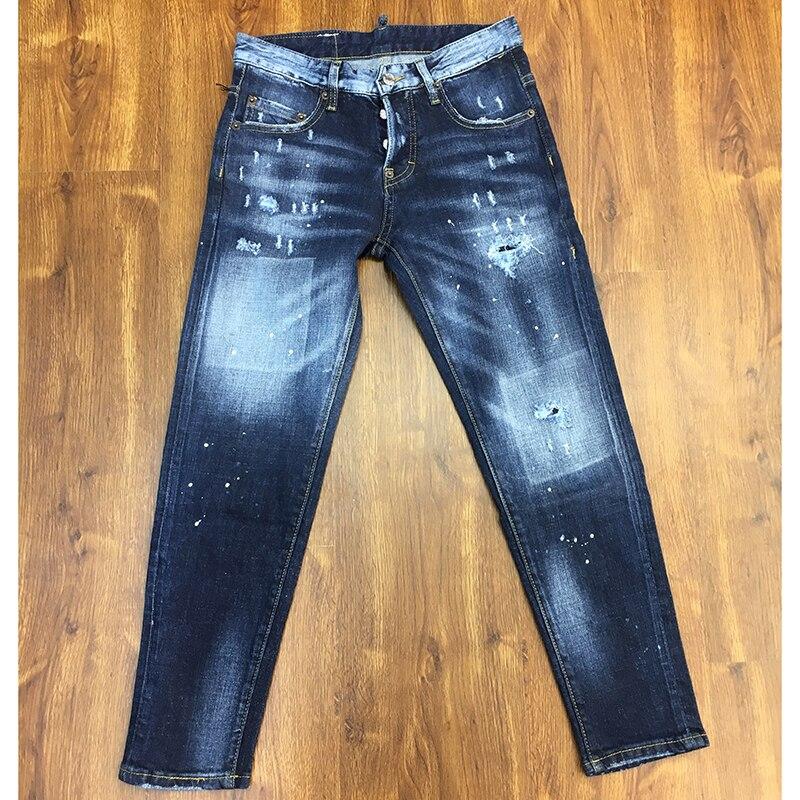 ¡Oferta! nuevos pantalones vaqueros de verano 2019 para mujer, pantalones vaqueros con estampado de Patchwork para mujer de longitud completa-in Pantalones vaqueros from Ropa de mujer    1