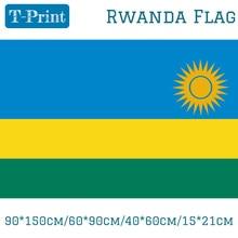 лучшая цена Free shipping 90*150cm/60*90cm/40*60cm/15*21cm Flag Of Rwanda 3x5ft World Cup / National Day / Olympic Games