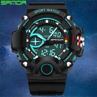 Men Outdoor Watch SANDA Luxury Brand Men S Sport Digital Watch Fashion Military Multifunction Watch Analog
