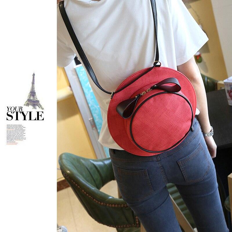 Cute Hat Women Crossbody bag Circular Handbags Sling Shoulder Bags Hat Shoulder Lady Messenger Cross body Bags BagPack Bowknot