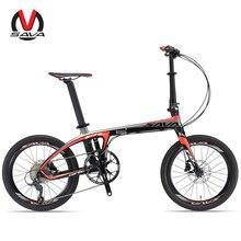 Sava 20 inç katlanır bisiklet t700 karbon fiber çerçeve ultralight 9 hız shimano 3000 attırıcı mini kompakt şehir turu bisiklet