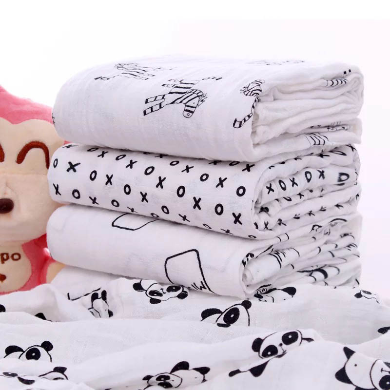 SummitKids 110 سنتيمتر × 110 سنتيمتر لينة القطن التقميط الوليد الطفل الرضيع حمام منشفة الشاش القطن قماط البطانيات الطفل التقميط