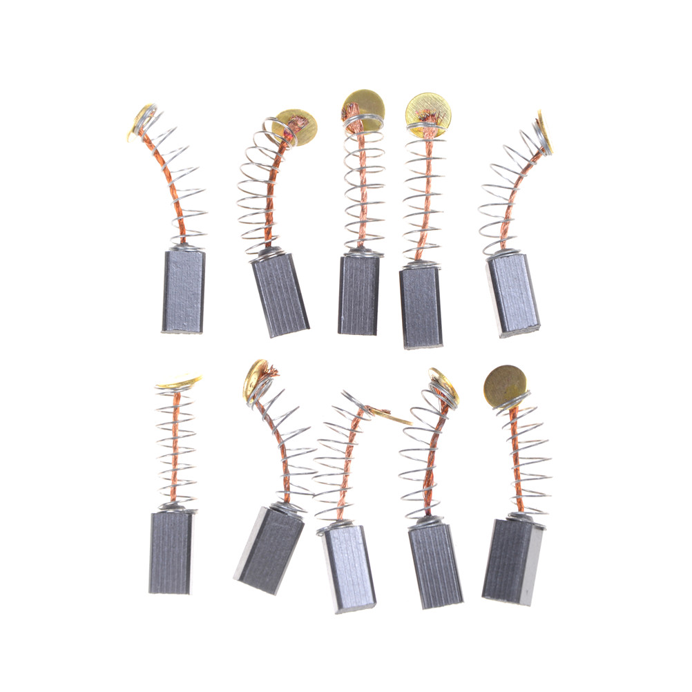 10pcs Dremel Rotary Tool 5x5 X8mm Mini Drill Electric Grinder Replacement Carbon Brushes Spare Parts For Electric Motors