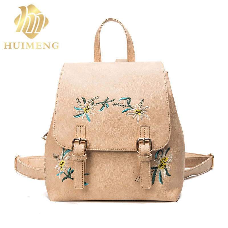 2018 new arrivals fashion floral Pu leather women backpack embroidery school bag for teenage girls brand ladies small Backpacks 2017 new embroidery butterfly women backpack school bags for girls brand shoulder bag fashion pu leather ladies travel backpacks