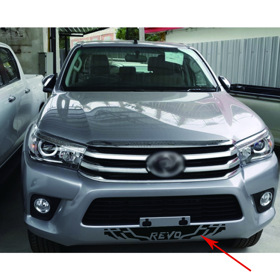 free shipping 1 PC bumpers lotus revo stripe vinyl graphics decals for toyota hilux