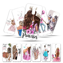 For LG K12 Plus Case Silicone 5.7 Baby Mom Grils Soft TPU Back Cover K40 12plus Phone Cases Coque Capa K 12