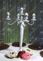 10pcs/lot Free Shipment Classical Style White Metal 5 arms Candelabra Centerpiece 30 tall for Wedding Event Party Home Decorate