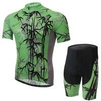 XINTOWN UV50 + bambusa druku jazda na rowerze zestawy poliester szybkie suszenie odzież rowerowa jazda na rowerze Jersey + spodnie absorpcji jazda na rowerze zestawy w Zestawy rowerowe od Sport i rozrywka na