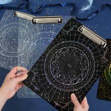 Board Stationery File-Folder Transparent Writing-Plate A4 Acryl Backing Laser-Star-Secret-Series