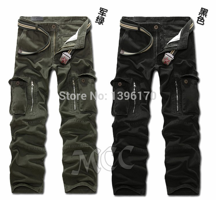 MIXCUBIC brand army tactical pants Multi-pocket washing 100% cotton army green camouflage cargo pants men plus large size 28-40 14