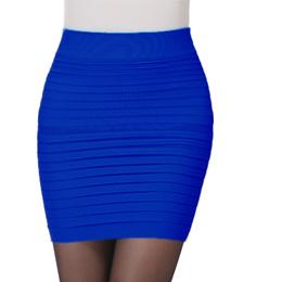 Women's Straight Elastic Mini Skirt