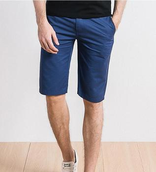 Solid color Men's new slim shorts