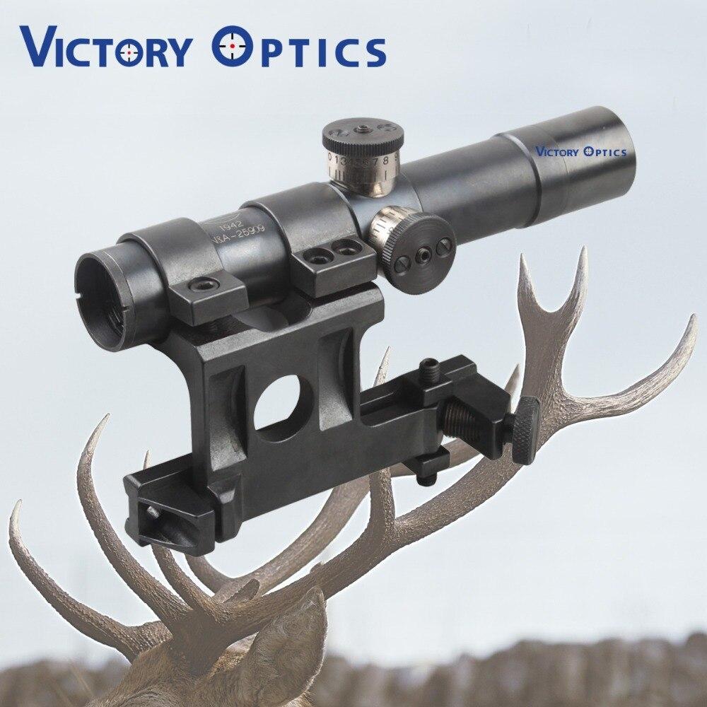 Lunette de visée en acier mosin-nagant PU 4x20 portée de fusil de chasse avec réticule en verre gravé SVT-40 réticule