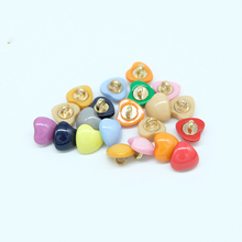 100pcs Colorful High Foot Love Buttons Metal Handle Decorativos Accessories Big Buttons Childern Clothing Sewing Houseware