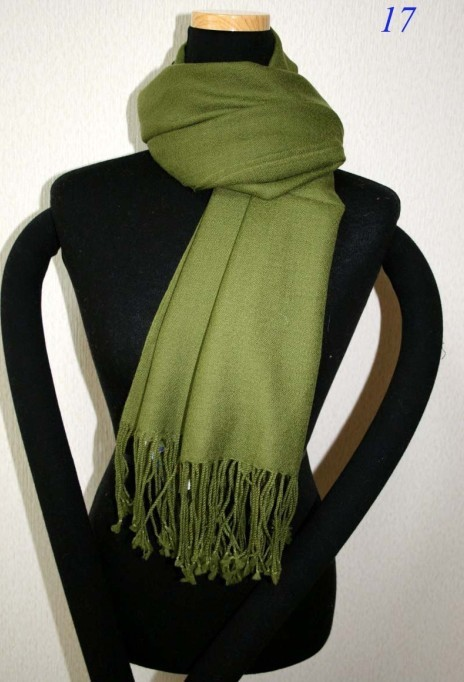 Green Fashion Women's Solid Pashmina Silk Shaw   Scarf     Wrap   Wholesale and Retai SW0052