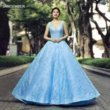 J66563 jancember quinceanera dresses 15 ball gown sleeveless v-neck floor length prom party dress vestidos de quinceaneras 2019
