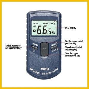 Image 3 - RZ Inductive Wood Timber Moisture Meter Hygrometer Digital Electrical Tester Measuring tool MD918 4~80% Density electromanetic