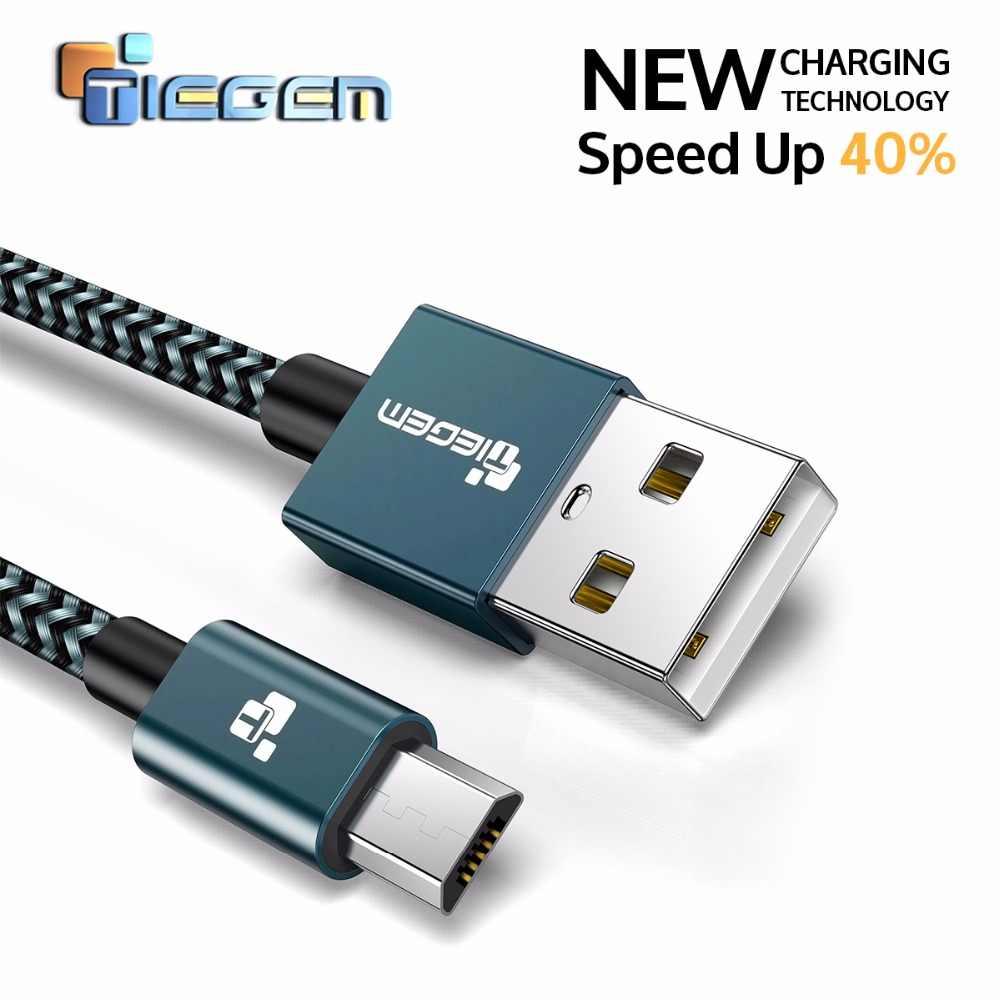 5V 2A Micro USB Kabel Tegem Cepat Charger Kabel Data Kabel Nilon Kepang Ponsel Kabel USB Charger untuk samsung HTC Huawei