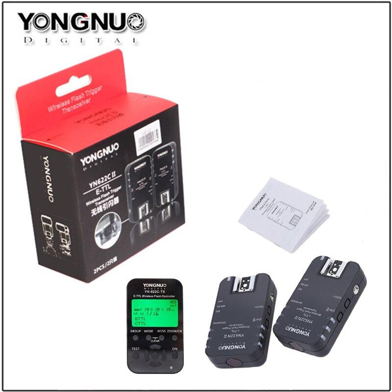 YONGNUO Wireless TTL Flash Trigger YN 622C II YN622C TX High speed Sync Transceiver for Canon