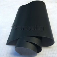 50cmx2m 3m 5m Matte Black Vinyl Car Wrap Car Motorcycle Scooter DIY Styling Adhesive Film Sheet