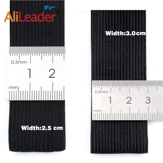 """Alileader Best Long Elastic Bands 1.5/2/2.5/3/3.5Mm Black Nylon Highest Elastic Band For Wig Cap Wig Making Accessories Diy 1M 10"