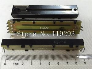 Image 1 - [Sa] 台湾 alpha 8.8 センチメートルストレートバースライドポテンショメータシャフトダブル B10K 8.2 t ストラップ雑巾膜 5 ピース/ロット