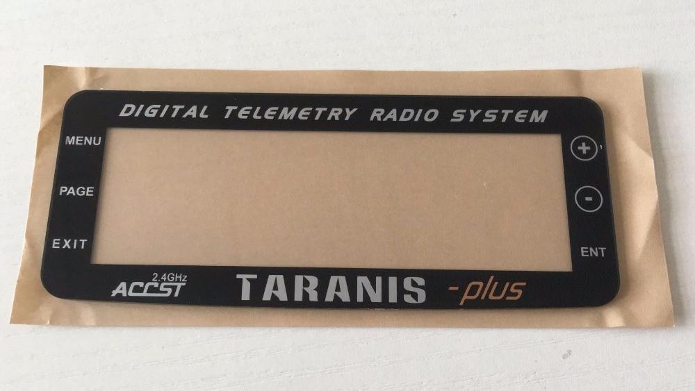 Integrado Frsky Taranis X9D PLUS cubierta de la pantalla transmisor de repuesto Panel de pantalla cubierta para multicóptero con radio control partes Transmisor FrSky ACCST Taranis Q X7 QX7 de 2,4 GHz, 16 canales, color blanco/negro