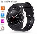 Relógio Do Esporte Relógio Inteligente V8 Tela Cheia Original Para Android jogo de Smartphones Apoio TF Cartão SIM Bluetooth Smartwatch PK GT08 U8