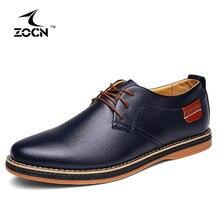 ZOCN Men Flats Shoes Luxury Brand PU Leather Shoes Men Flats Black Oxford Shoes For Men 2016 Zapatos Hombre Sapatos Masculino