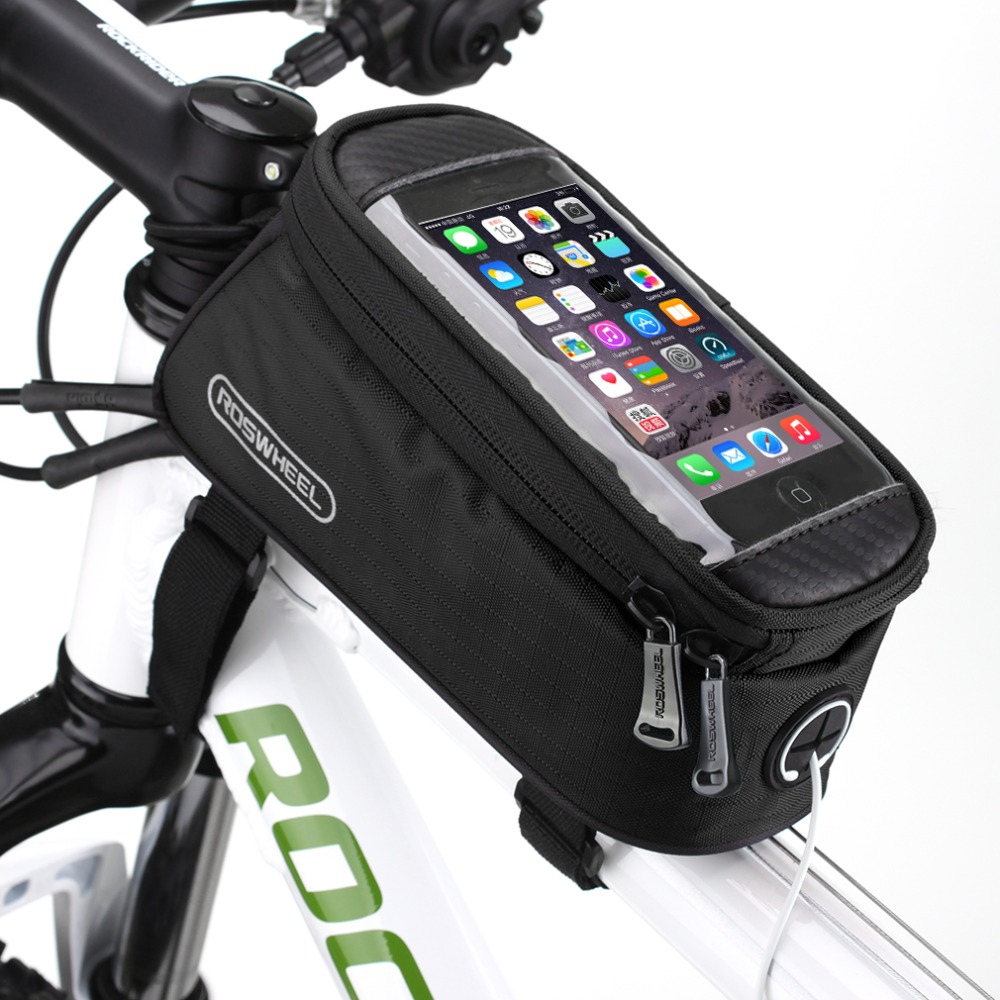 Waterproof Cycling Bike Bicycle Front Frame Pannier Bag Case For Cell Phone