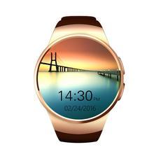 MTK2502C KW18 BTL Nuevo reloj teléfono inteligente 1.3 pulgadas ronda pantalla LCD IPS 240X240 Bluetooth 4.0 Anti-perdió alerta cámara Remota