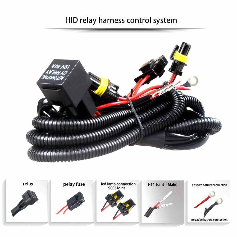 Rouxit car kit xenon HID wire harenss H1 H3 9005 9006 HB3 HB4 880 H11 on