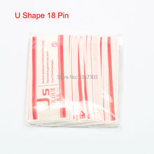 50 PCS 18 Pin U Shape Tattoo Needles Permanent Makeup Eyebrow Embroidery Blade For 3D Microblading Manual Tattoo Pen